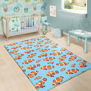 Clownfish Pattern Print Design 01 Area Rug