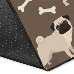 Pug Pattern Print Design A02 Area Rug