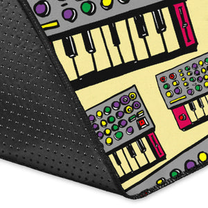 Synthesizer Pattern Print Design 01 Area Rug