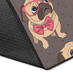 Pug Pattern Print Design A05 Area Rug