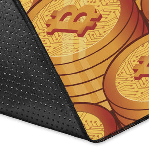 Bitcoin Pattern Print Design 02 Area Rug