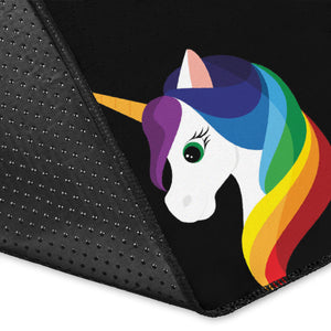 Rainbow Unicorn Pattern Print Design A03 Area Rug