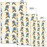 Kingfisher Pattern Print Design 01 Area Rug