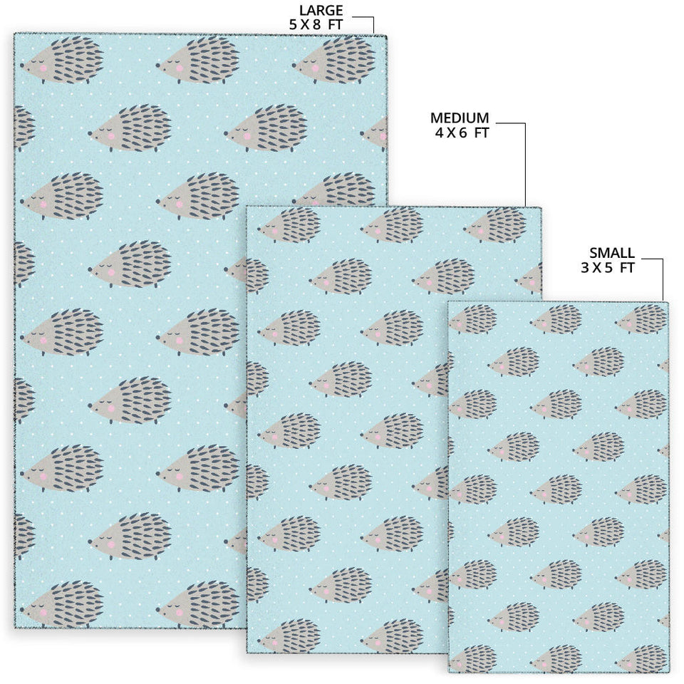 Hedgehog Pattern Print Design 02 Area Rug
