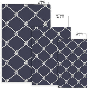 Rope Pattern Print Design A02 Area Rug