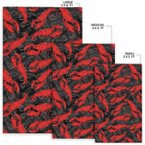 Lobster Pattern Print Design 04 Area Rug