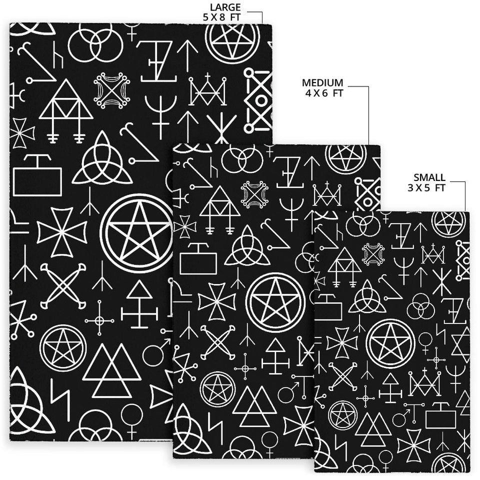 Pentagram Pattern Print Design A02 Area Rug