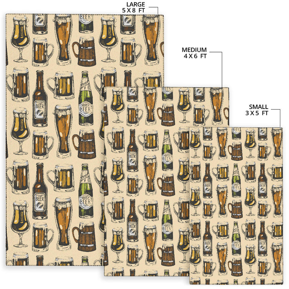 Beer Pattern Print Design 04 Area Rug