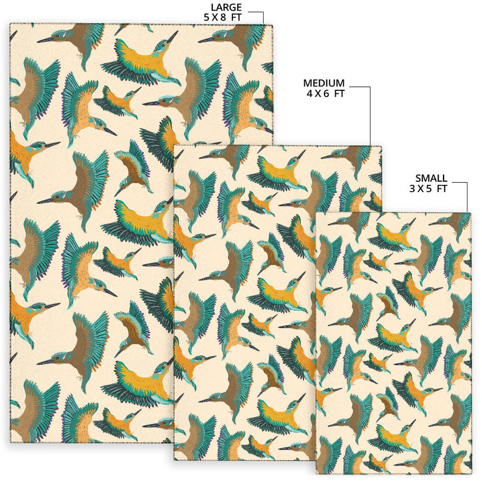 Kingfisher Pattern Print Design 02 Area Rug