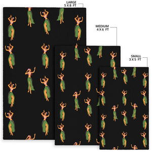 Hula Dancers Girl Pattern Print Design 01 Area Rug