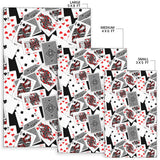 Poker Cards Pattern Print Design A04 Area Rug