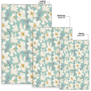 Lily Pattern Print Design 02 Area Rug