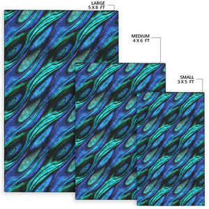 Abalone Pattern Print Design 03 Area Rug
