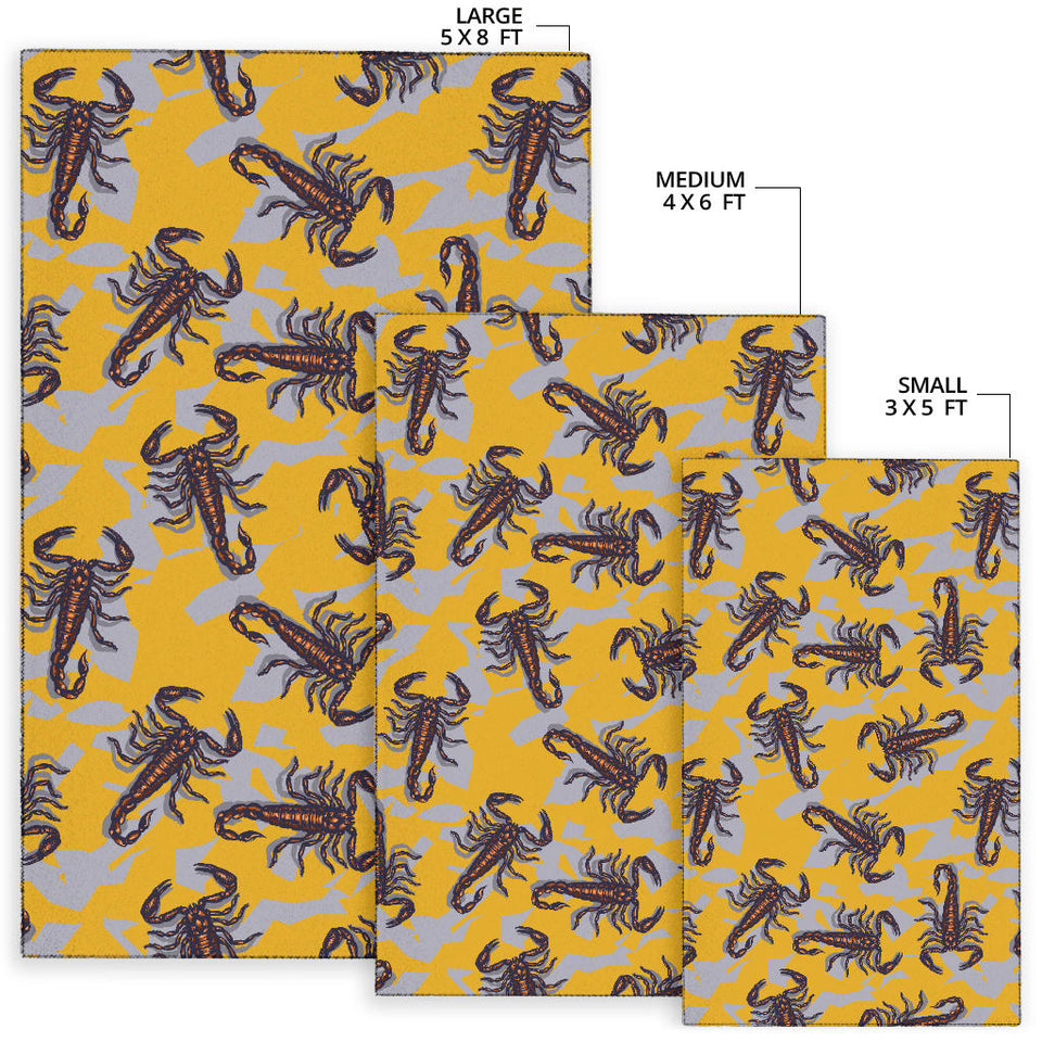 Scorpion Pattern Print Design 01 Area Rug