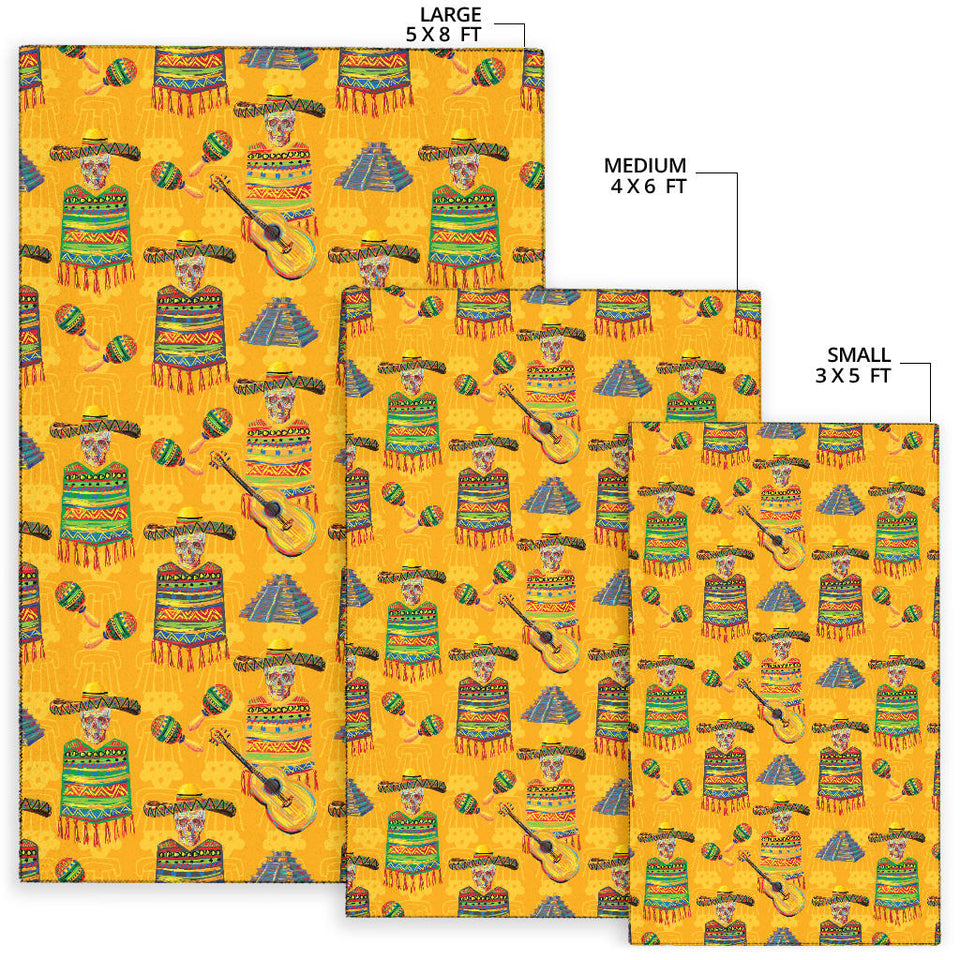 Maracas Mexican Style Pattern Print Design 02 Area Rug