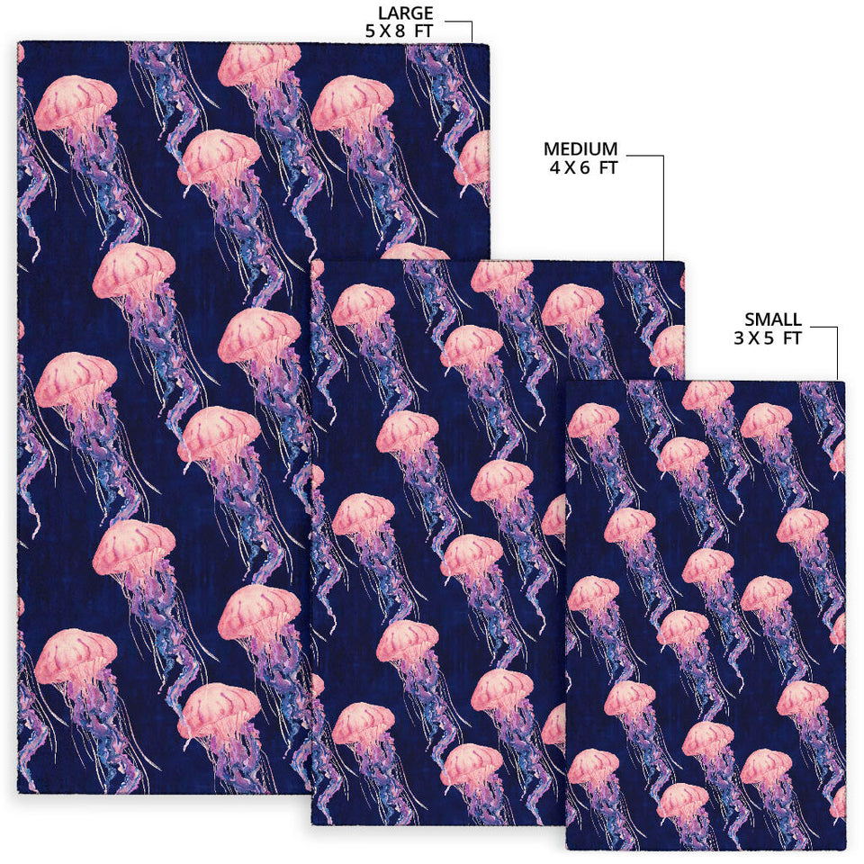 Jellyfish Pattern Print Design 03 Area Rug