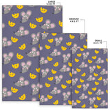Rat With Cheese Pattern Print Design 01 Area Rug