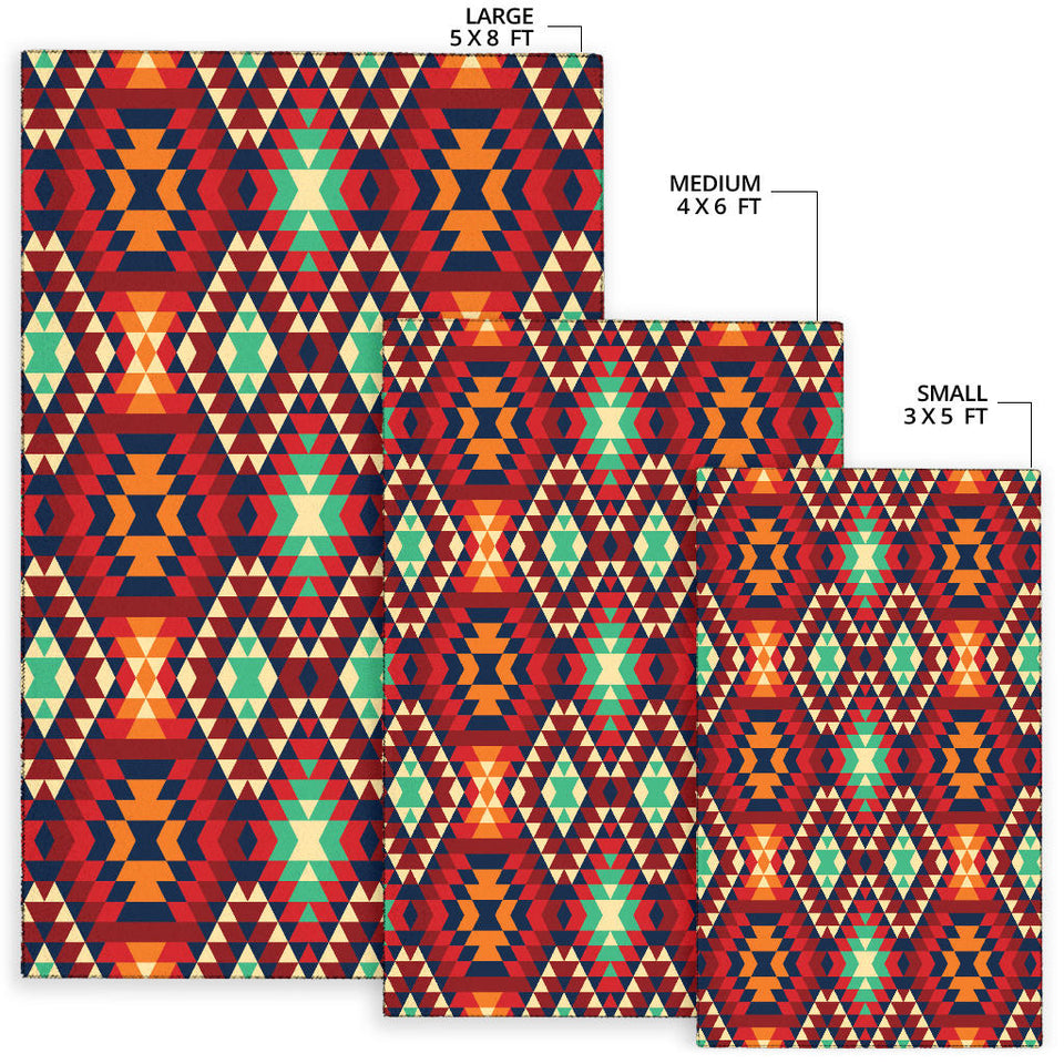 Native Pattern Print Design A07 Area Rug