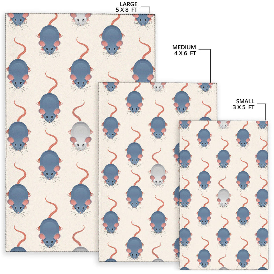 Rat Pattern Print Design 03 Area Rug