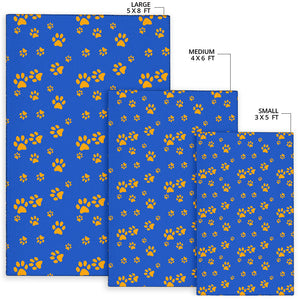 Paw Pattern Print Design A03 Area Rug