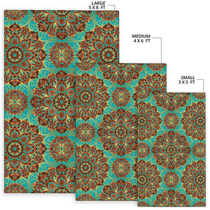 Medallion Pattern Print Design 02 Area Rug