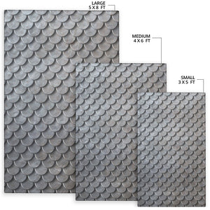 Armor Scales Pattern Print Design 03 Area Rug