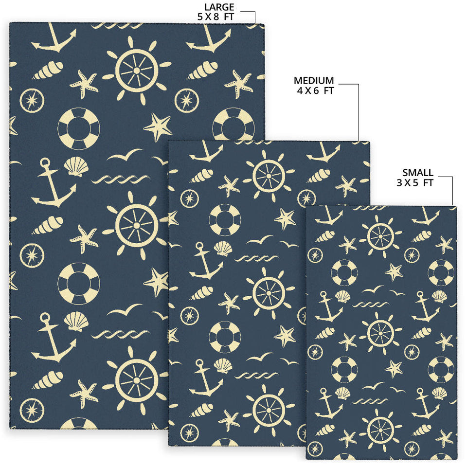 Nautical Pattern Print Design A01 Area Rug
