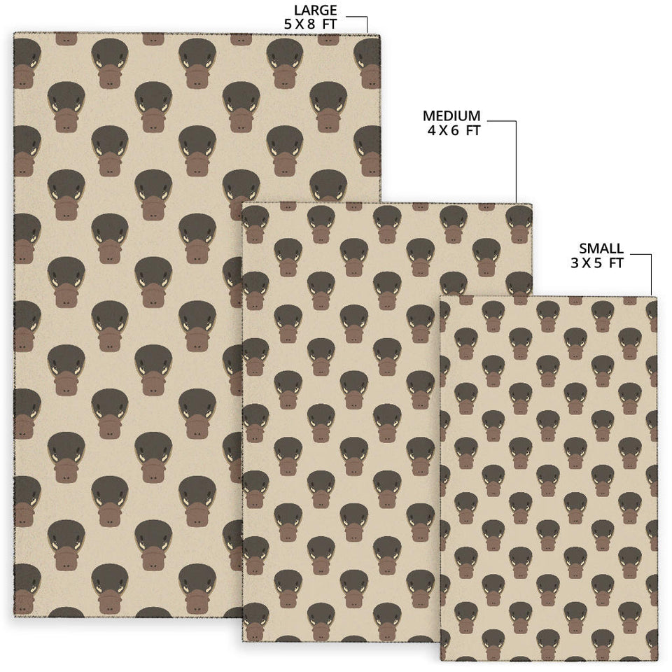 Platypus Pattern Print Design A03 Area Rug