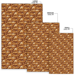Bagel Pattern Print Design 02 Area Rug