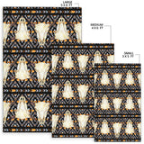 Buffalo Head Pattern Print Design 03 Area Rug
