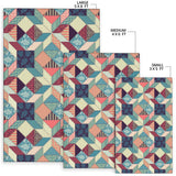 Patchwork Pattern Print Design 02 Area Rug