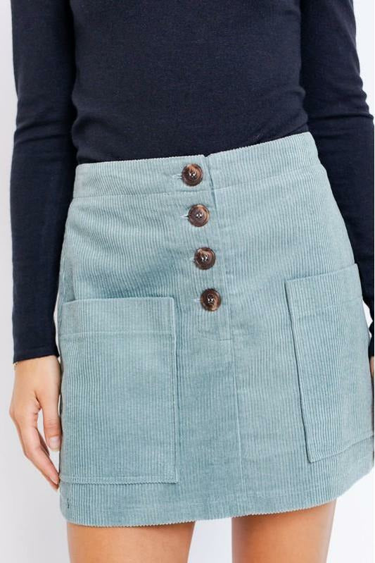 Lets Go Corduroy Skirt