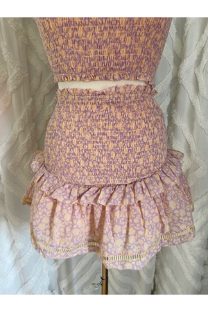 Lavender Two Piece Set Skirt