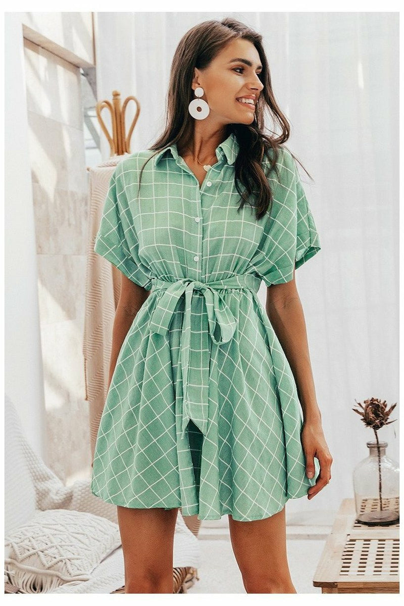 Green Plaid Everyday Dress - Not Your Sisters Closet Boutique