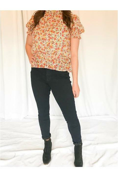 Flower Top - Not Your Sisters Closet Boutique