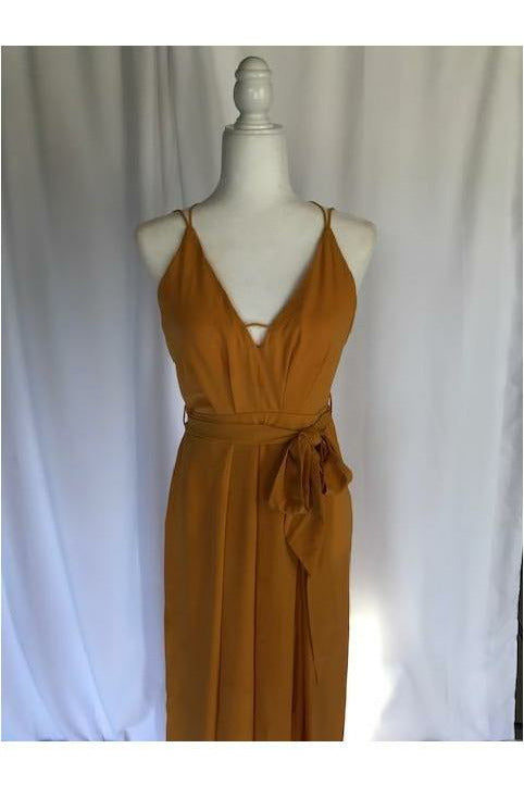 Mustard Jumpsuit - Not Your Sisters Closet Boutique