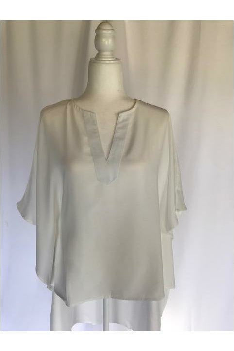 Short Sleeve High Low Top -White - Not Your Sisters Closet Boutique