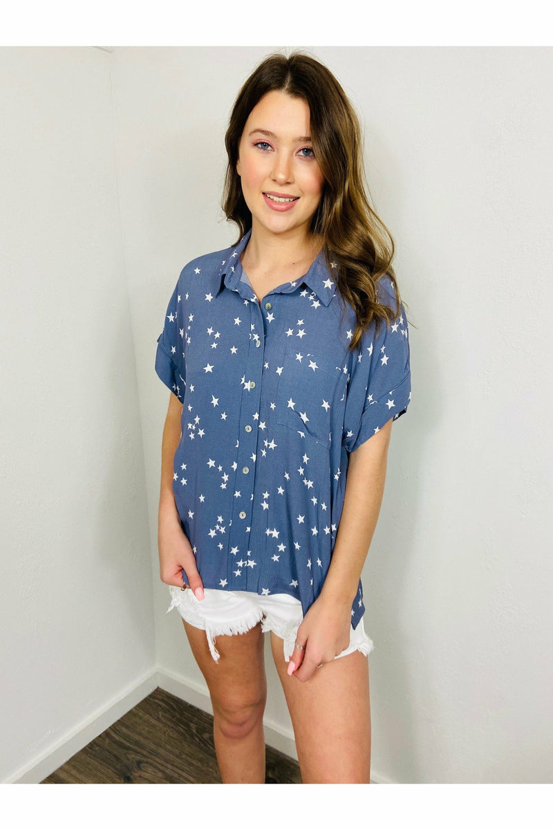The Stars and Back Blouse