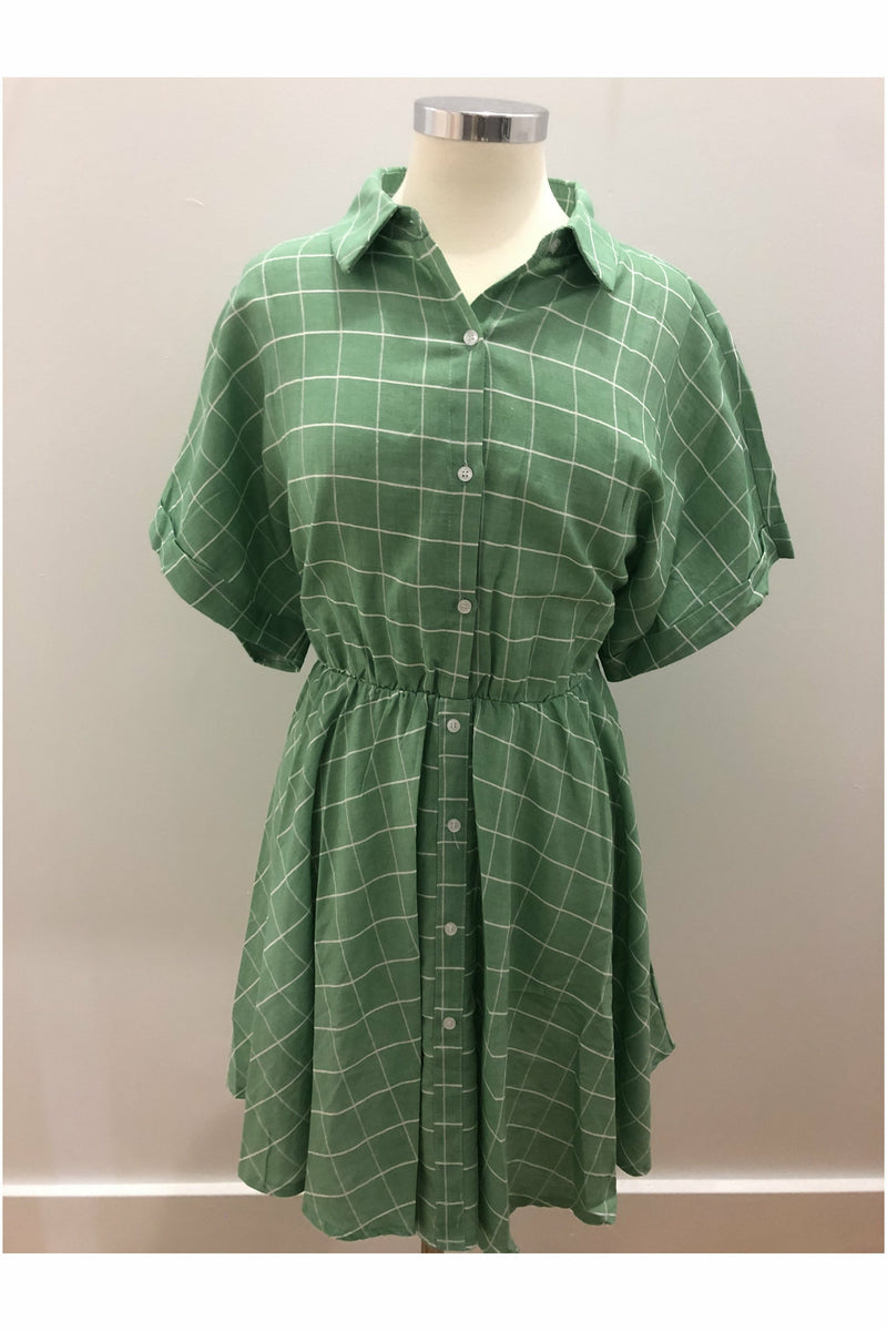 Green Plaid Everyday Dress