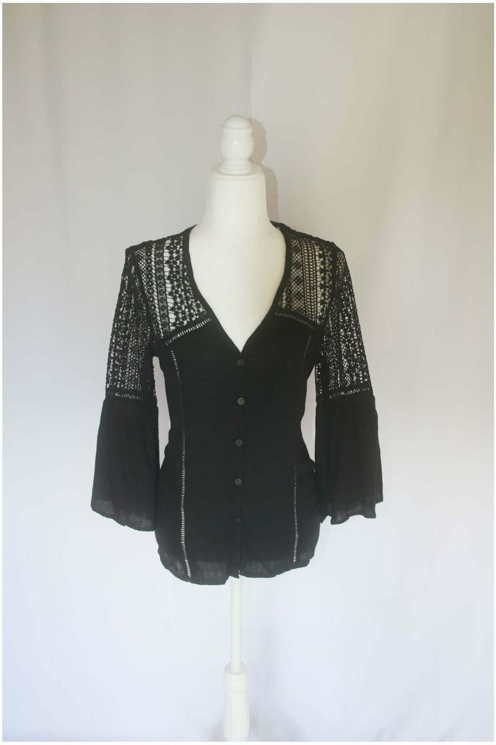 Crochet Black Top - Not Your Sisters Closet Boutique