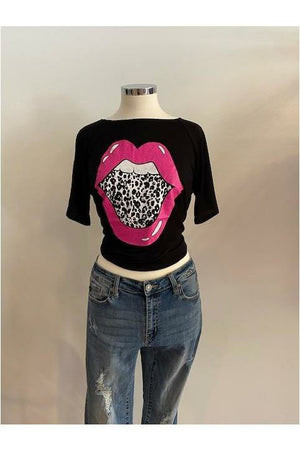 Kiss My Leopard Tee
