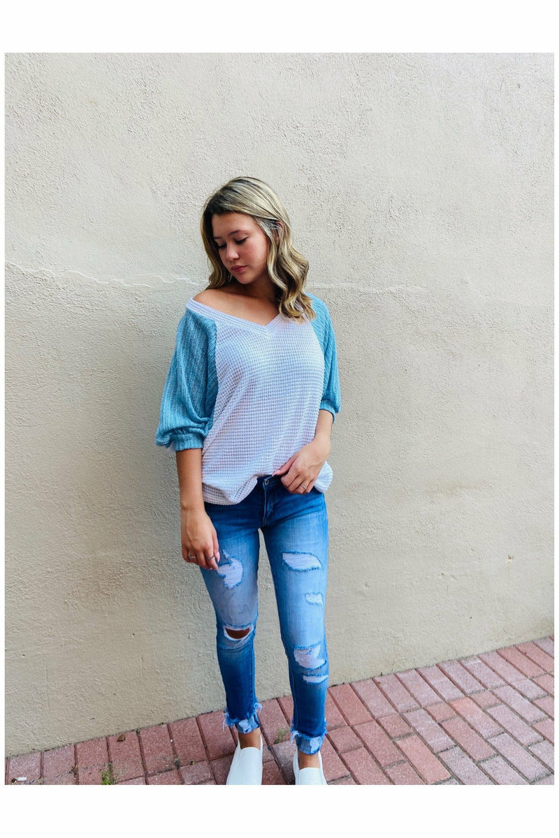 Knit Color Block Top