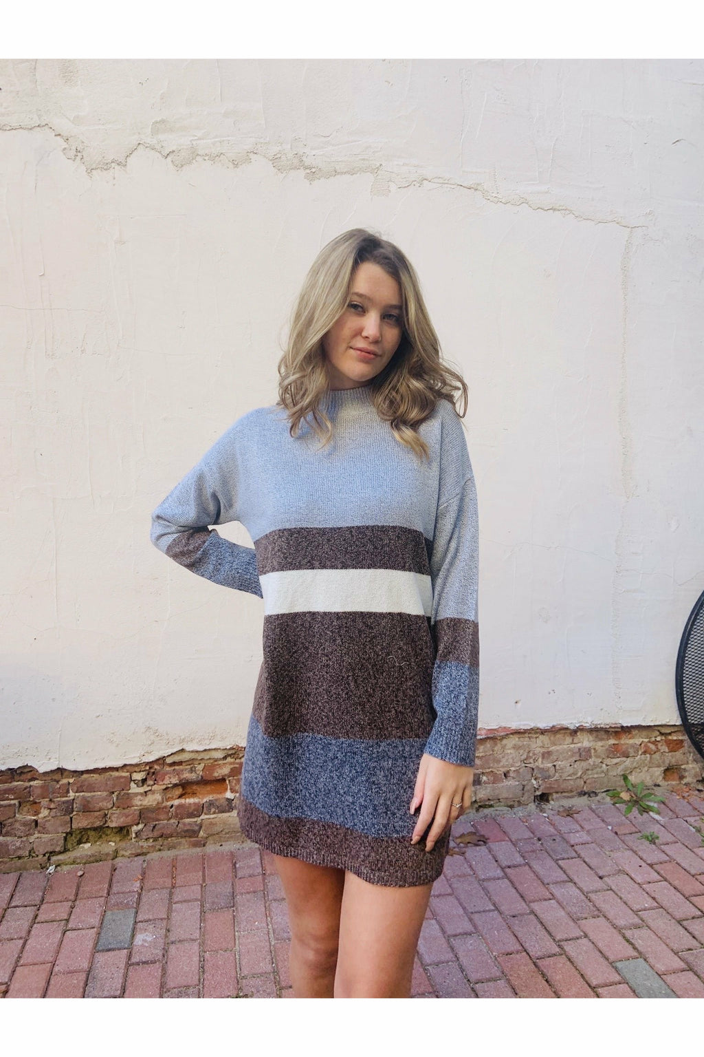 Color Block Sweater Dress