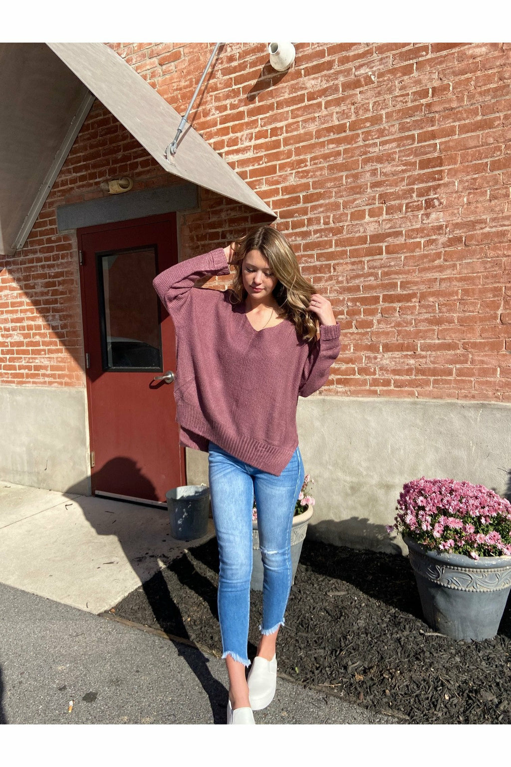 Mauve Basic Sweater
