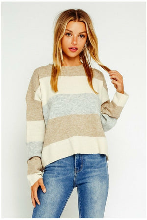 Stripe Sweater - Not Your Sisters Closet Boutique