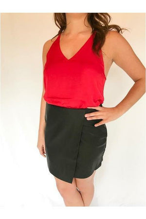 Holiday Red Body Suit - Not Your Sisters Closet Boutique