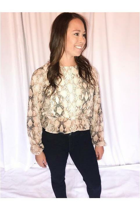 Snake Long Sleeve - Not Your Sisters Closet Boutique