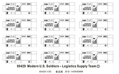 Modern US Soldiers - Logistics Supply