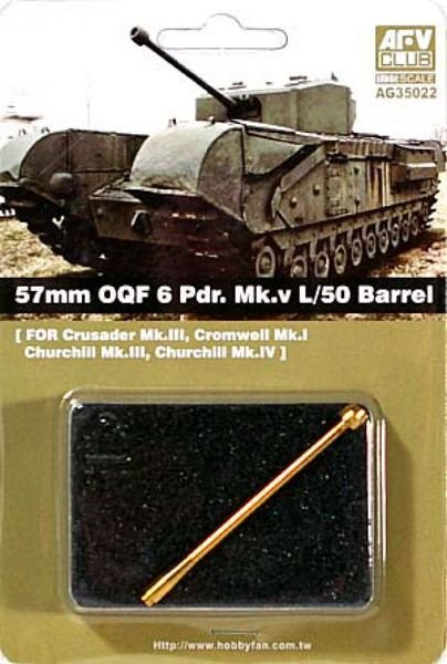 57mm OQF 6 Pdr. Mk.v L/50 Barrel