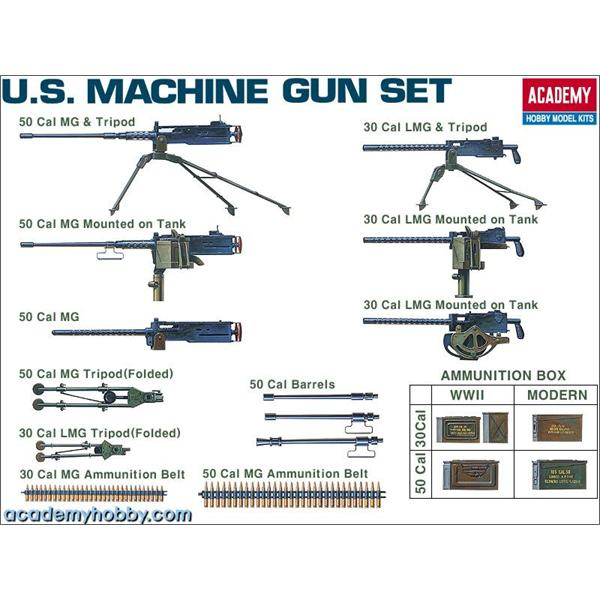 1/35 Academy U.S. Machine Gun Set